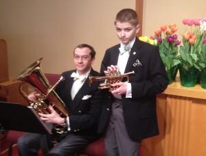 With piccolo trumpet